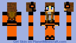 D3PL3T10N Girl Minecraft Skin