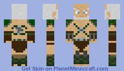 diablo 3 barbarian Minecraft Skin