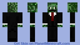 Derp Face Zombie In a Suit Minecraft Skin
