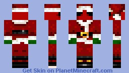 Deadpool Santa Skin *Better in 3D* Minecraft Skin