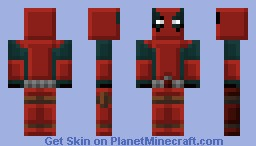 Blocky Deadpool Minecraft Skin