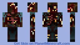 The walking, rotting corpse ( 3D Head Features ) Minecraft Skin