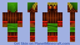 Deku Link (Legend of Zelda Majora's Mask) Minecraft Skin