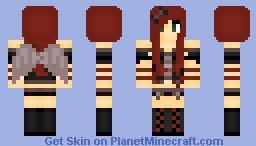 Demon Girl w/ wings Minecraft Skin