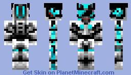 Diamond Robo Cop Minecraft Skin