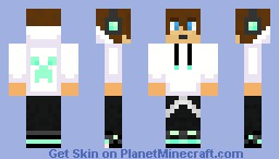 DiamondCreep; the new Teen-sensation! (Brown hair) Minecraft Skin
