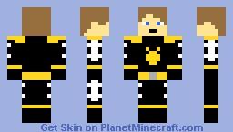 Dino Thunder Black Ranger Minecraft Skin