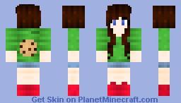 Dinow Fan Girl Minecraft Skin