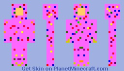 Pink Frosted Sprinkled Donut [Contest Entry] Minecraft Skin