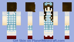 Dorothy Gale (Judy Garland) From the Wizard of Oz!!! <3 Minecraft Skin