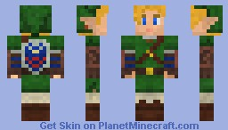 The Legend Of Zelda  LINK Minecraft Skin