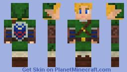 The Legend Of Zelda  LINK Minecraft Skin