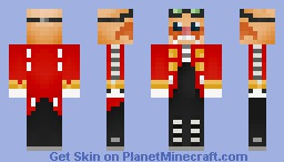 DR Eggman ( Has lots of 3D detail ) Minecraft Skin