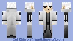 Man in White Minecraft Skin