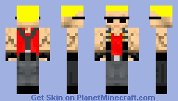 Duke Nukem Minecraft Skin