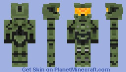 Halo 4 Master Chief Mark VII Minecraft Skin