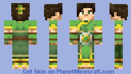 Female EarthBender Master Minecraft Skin