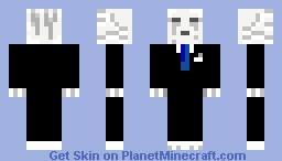 Ghast in a suit Minecraft Skin