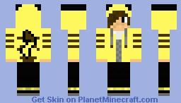 Emo Boy in Pikachu Jacket Minecraft