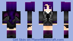 The Ender Dragon Girl Minecraft Skin