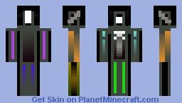 Neon Man Minecraft Skin