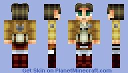 Eren Jaeger - Shingeki no Kyojin (Attack on Titan) Minecraft Skin