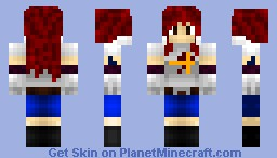 Erza Scarlet [Fairy Tail] Minecraft Skin