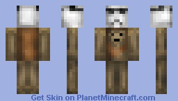 Ewock Holding a Stormtrooper Helm [Must See] Minecraft Skin