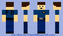 firefighter without bunker gear Minecraft Skin