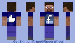Facebook Fanboy Minecraft Skin