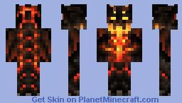 Mystic Mynecraft Mod | Fire Monster Skin (credits go to chepo2005 & Humanwargen) Minecraft