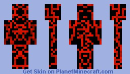 Elemental Fire Sentinel Being (Sentinel Series) Minecraft Skin