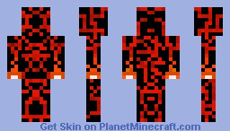 Elemental Fire Sentinel Warrior (Sentinel Series) Minecraft Skin