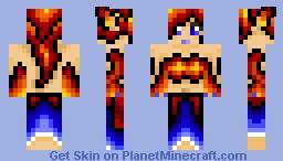 Fire Sorceress Minecraft Skin