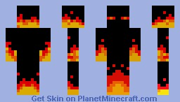 Fire enderman [Real fire] Minecraft Skin