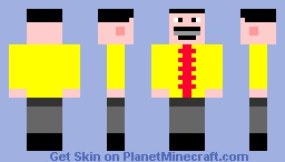 Freddie Mercury Yellow Suit Minecraft Skin