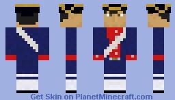 American Navy Marine (French Marine) - REVOLUTIONARY WAR SKIN SERIES Minecraft Skin