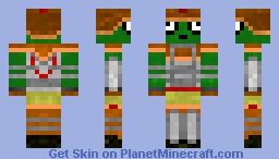 Frog mutant - Knight Minecraft Skin