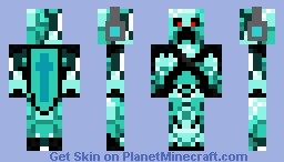 Diamond Creeper Minecraft Skin - Skin para minecraft pe creeper