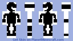 Mr. Game and Watch (Pixelart) Minecraft Skin
