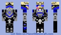 Garrus  Vakarian (Grey & Blue) Minecraft Skin