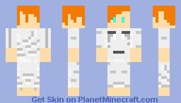 Girl In Ghast Pyjamas Minecraft Skin