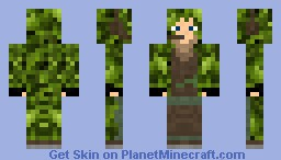 (LOOKS GREAT IN 3D) GHILLIE SUIT Minecraft Skin