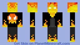 Ghost Rider (3D parts) Minecraft Skin