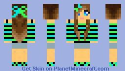Blue&Green Girl Minecraft Skin