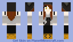 Girl with dog hat and shirt Minecraft Skin