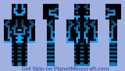 Glow blue Minecraft