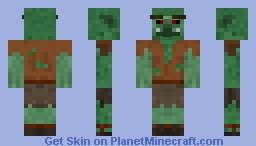 Goblin Villager Minecraft Skin