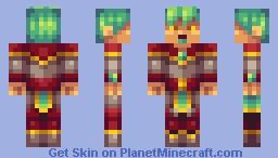 Deru, God of Color Minecraft Skin