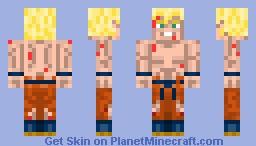 Goku LSSJ Minecraft Skin